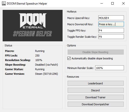 doom speedrun helper app